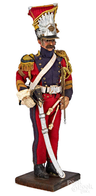 Wood model of a French Red Lancer