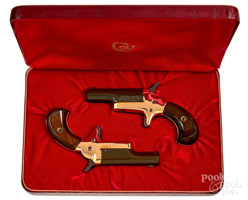 Pair of Colt Derringer single shot pistols