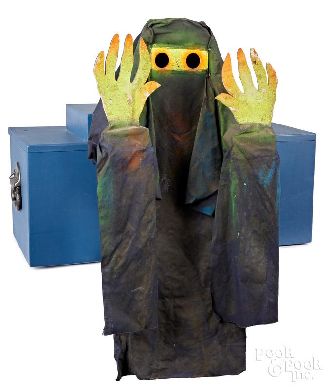 Animated amusement park spook house figure