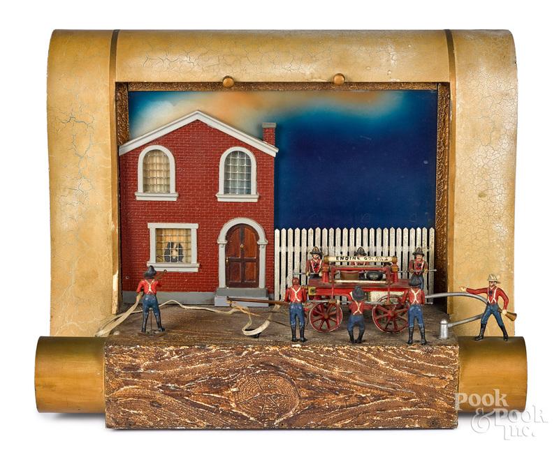 Baranger Studios firefighters store display