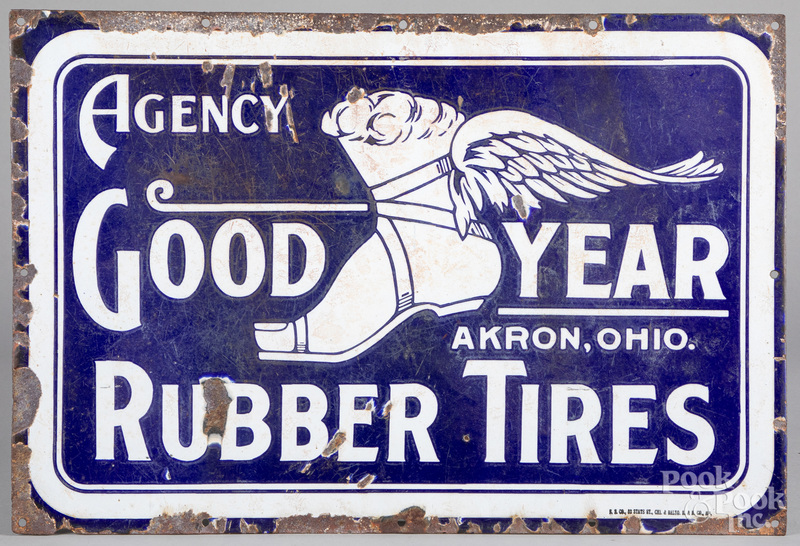 Goodyear Rubber Tires advertising sign