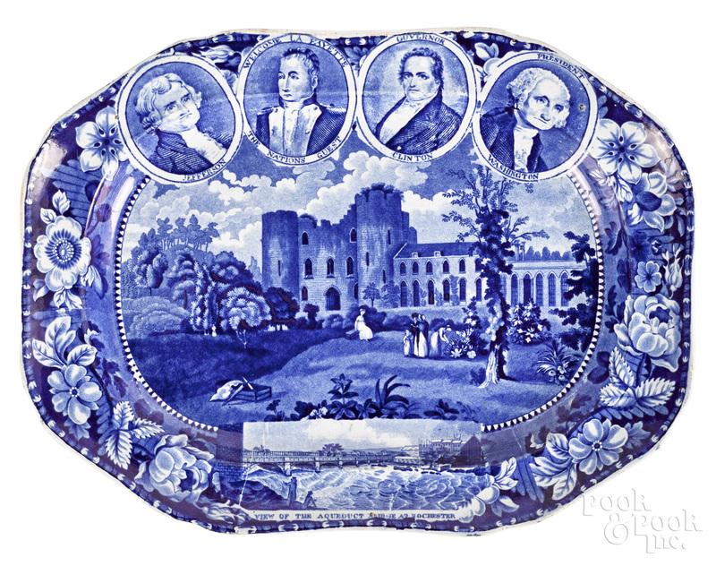 Rare Historical blue Staffordshire platter