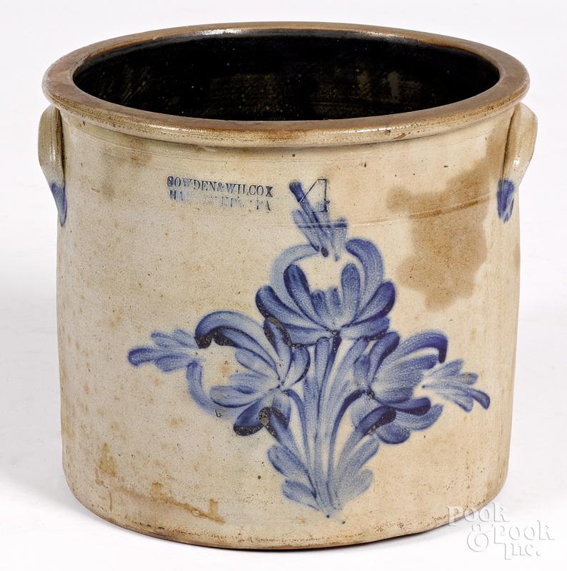 Pennsylvania four-gallon stoneware crock