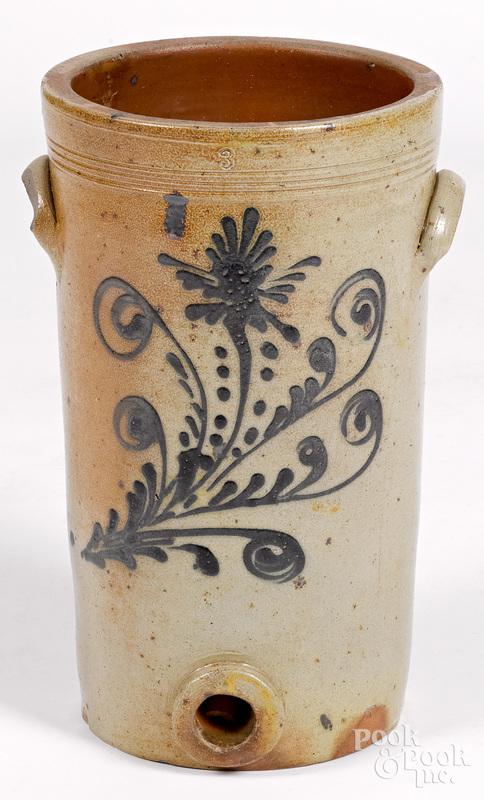 Three-gallon stoneware water cooler