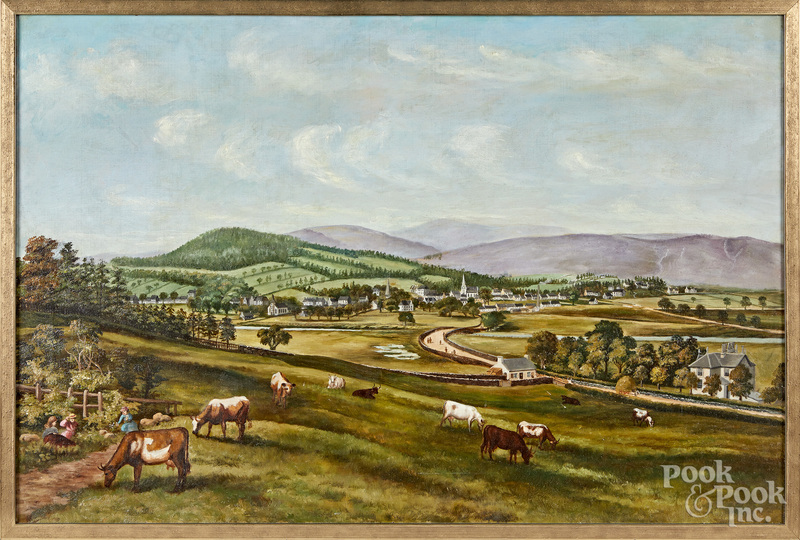 American oil on canvas landscape