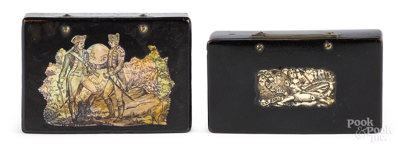 Black lacquer boxes of Revolutionary War interest