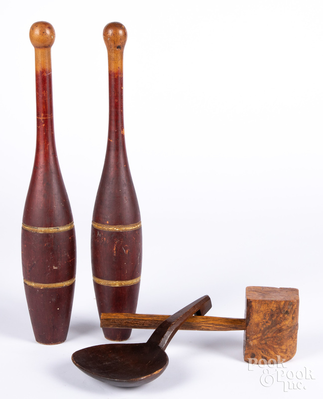Pair of Indian clubs
