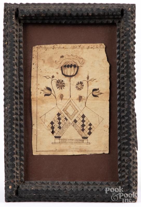 Southeastern Pennsylvania ink fraktur bookplate