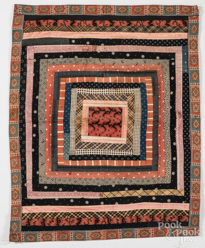 Pieced crib quilt, 19th c.