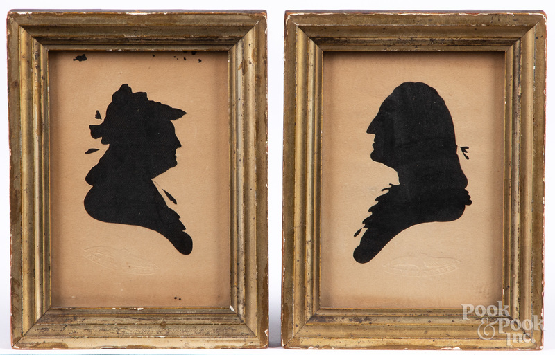 Pair of spurious Peales Museum silhouettes