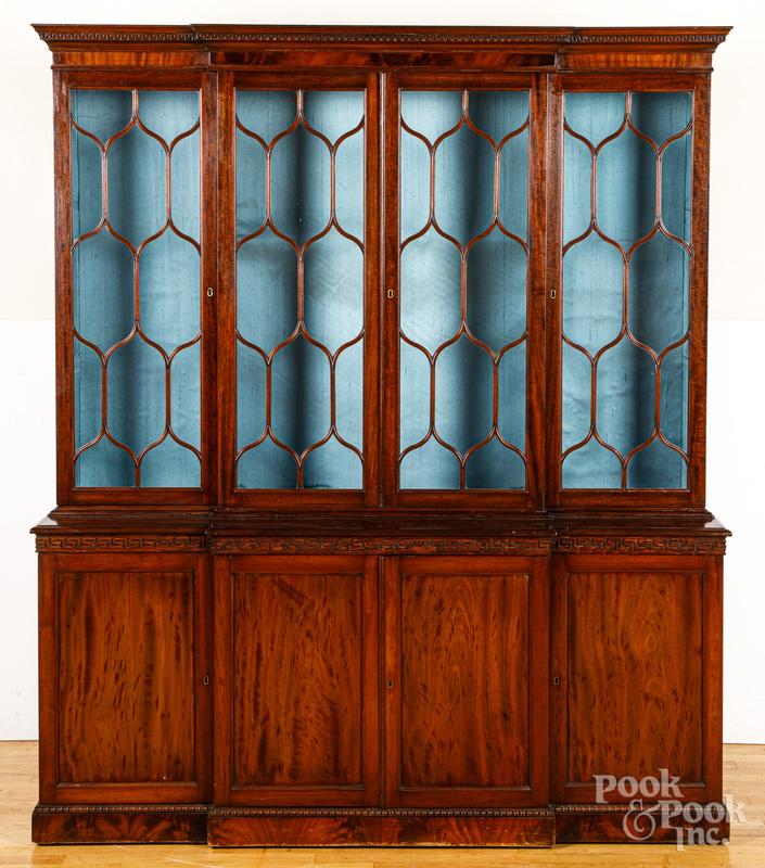 George III style mahogany breakfront