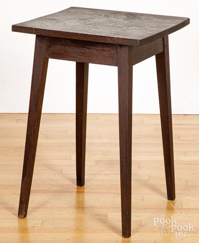 Walnut splay leg stand, 19th c.