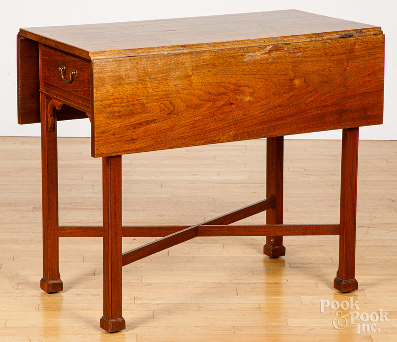 Pennsylvania or Maryland Chippendale walnut table