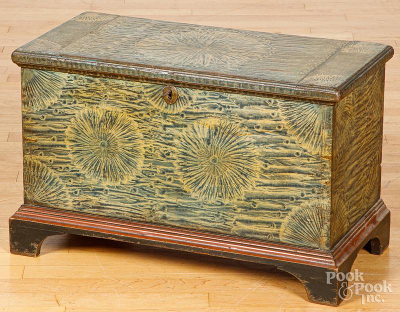 Pennsylvania painted poplar child's blanket chest