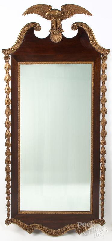 Mahogany and gilt mirror, early 20th c.