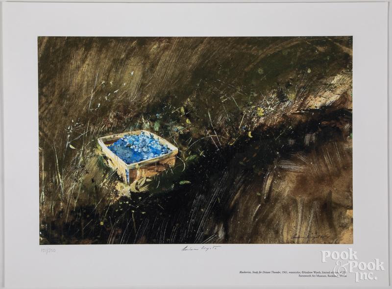 Andrew Wyeth collotype Blueberries