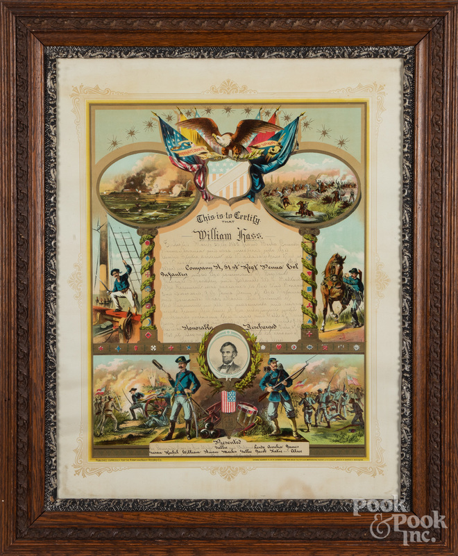 Military enlistment certificate for William Hass