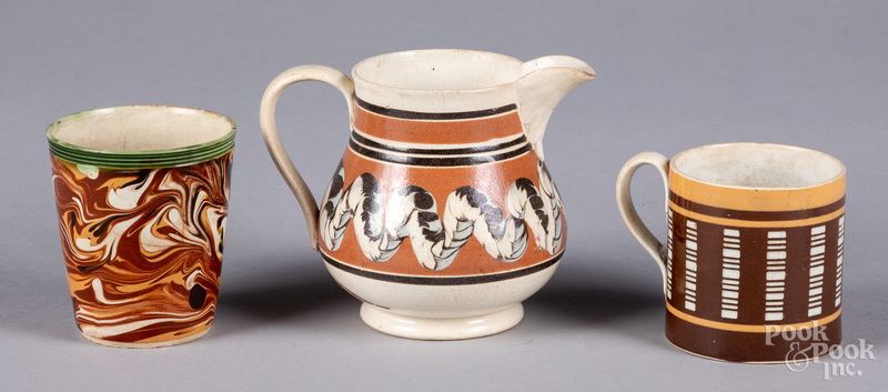 Three mocha tablewares