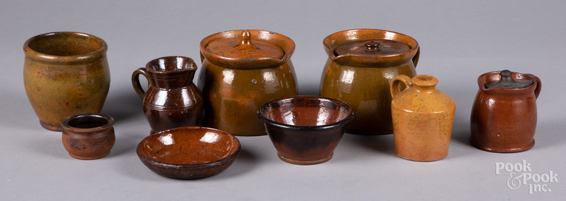 Group of Pennsylvania redware, 19th c.