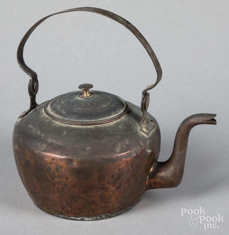 Philadelphia copper kettle, 19th c.
