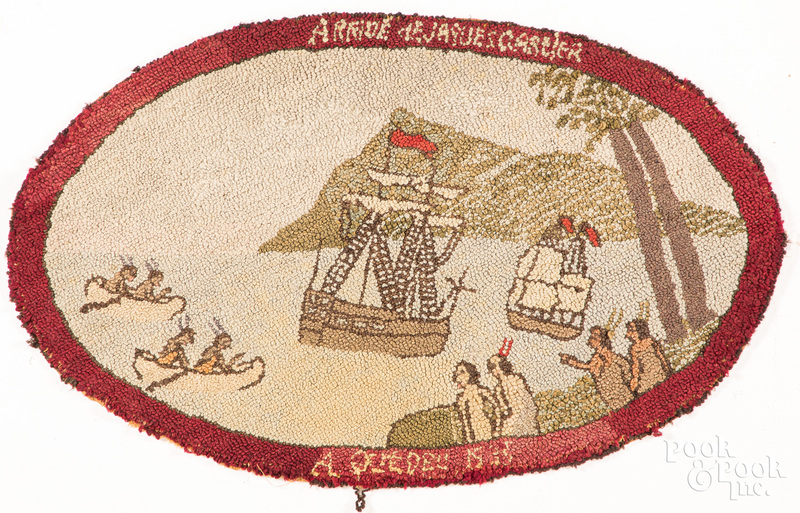 French Canadian hooked rug