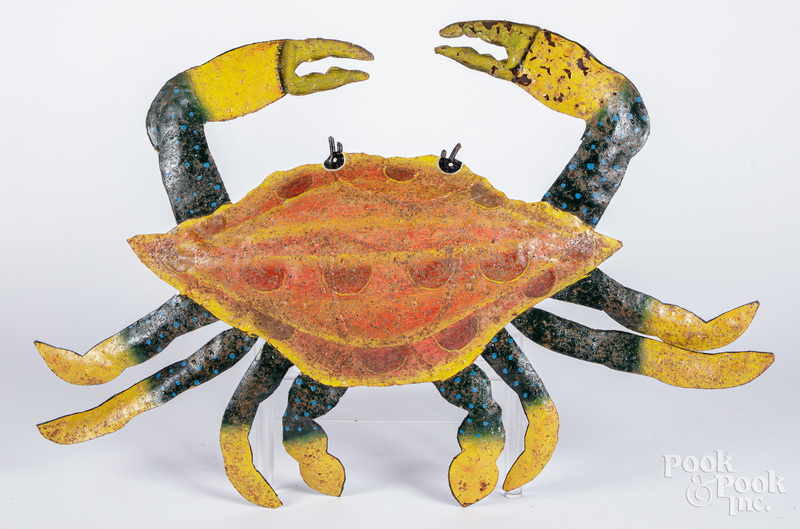 Painted sheet metal crab