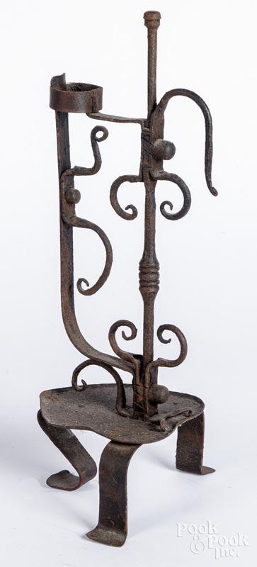 Large wrought iron candleholder.