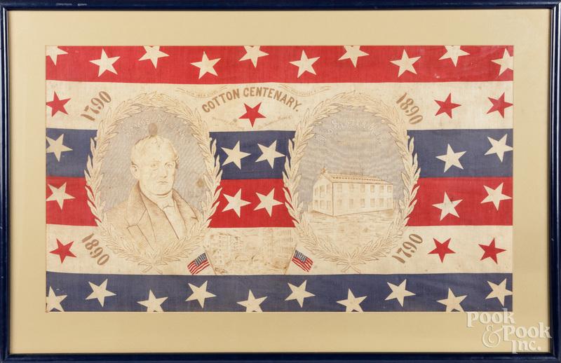 Samuel Slater Cotton Centenary handkerchief, 1890