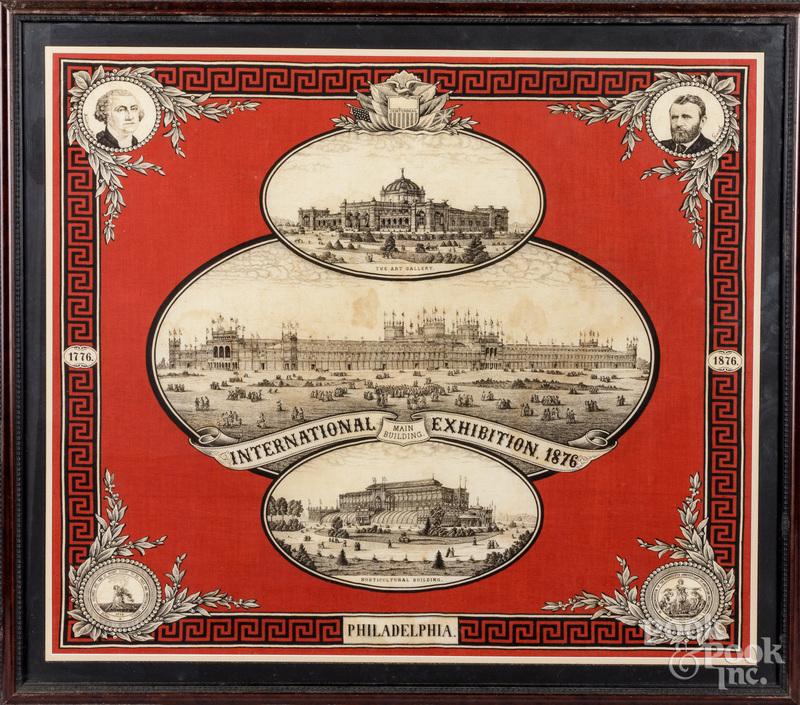 Philadelphia International exhibition handkerchief