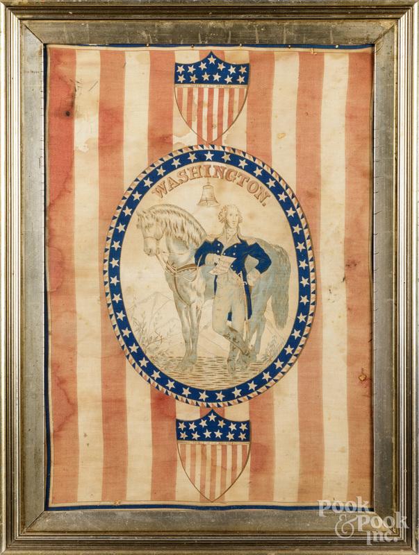 Two Centennial handkerchiefs.
