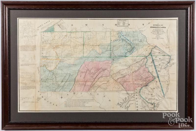 Historical Map of Pennsylvania, pub. 1875.