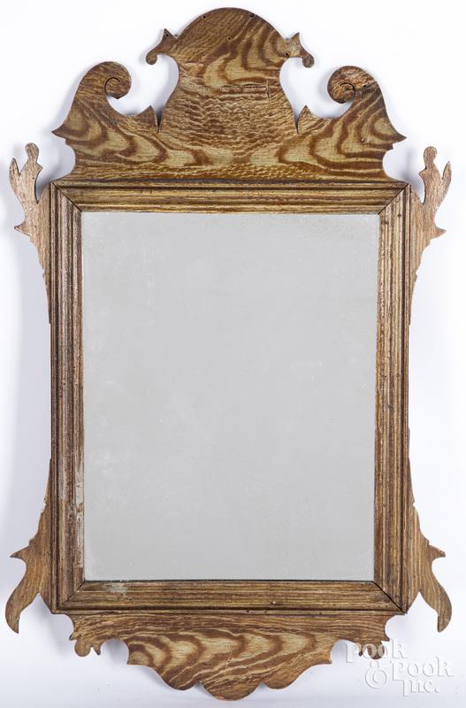 Chippendale mahogany mirror, ca. 1800.