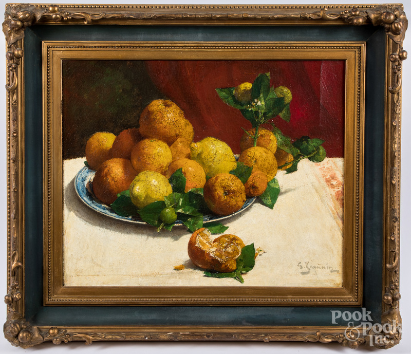 Georges Jeannin oil on canvas still life