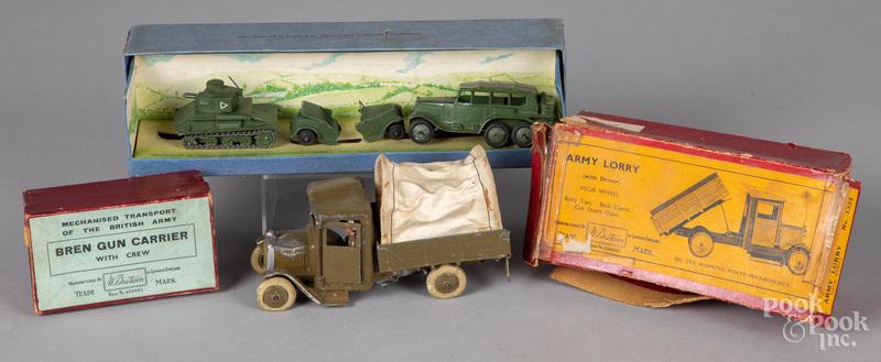 Britain Army Lorry truck, with original box, etc.