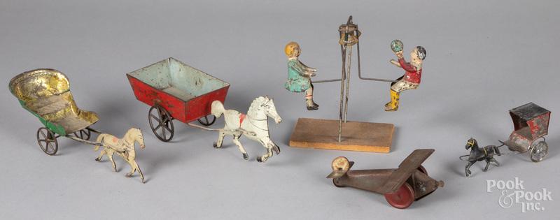 Miscellaneous tin toys