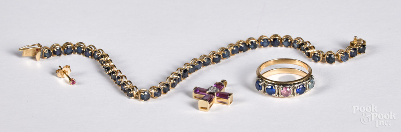 14K gold and gemstone jewelry
