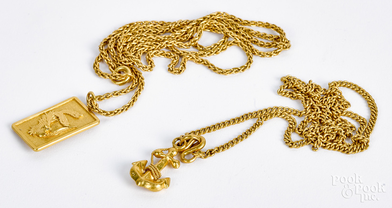 Two high grade gold necklaces