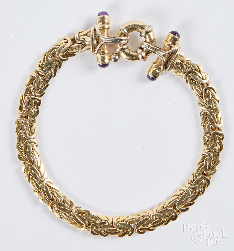 14K gold bracelet, 8.6 dwt.