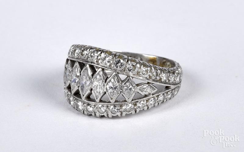 Platinum and diamond ring, size 6, 4.3 dwt.
