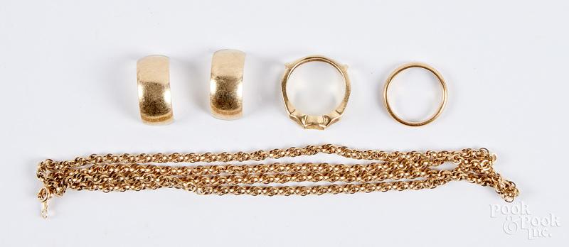 14K gold jewelry, etc.