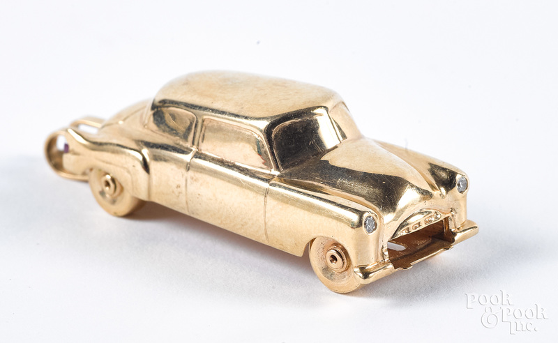 14K gold car pendant