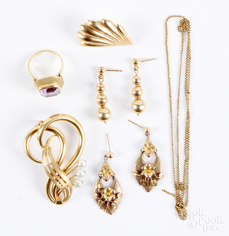 18K gold and gemstone jewelry, etc.