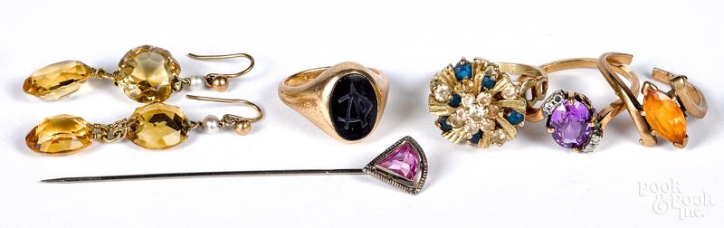 10K gold and gemstone jewelry