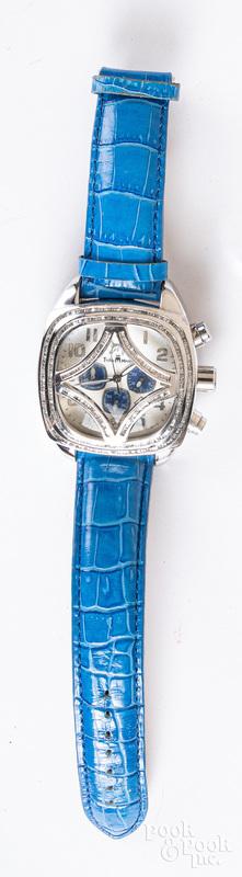 Techno Master stainless steel & diamond wristwatc