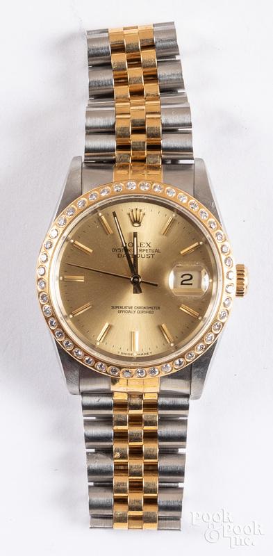 Rolex men's oyster perpetual datejust wristwatch