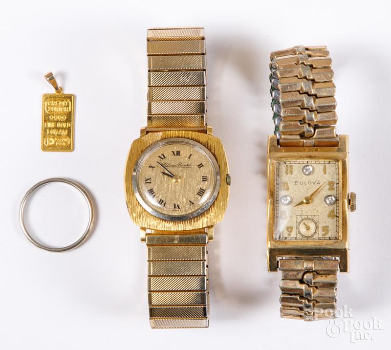 18K gold wristwatch, etc.