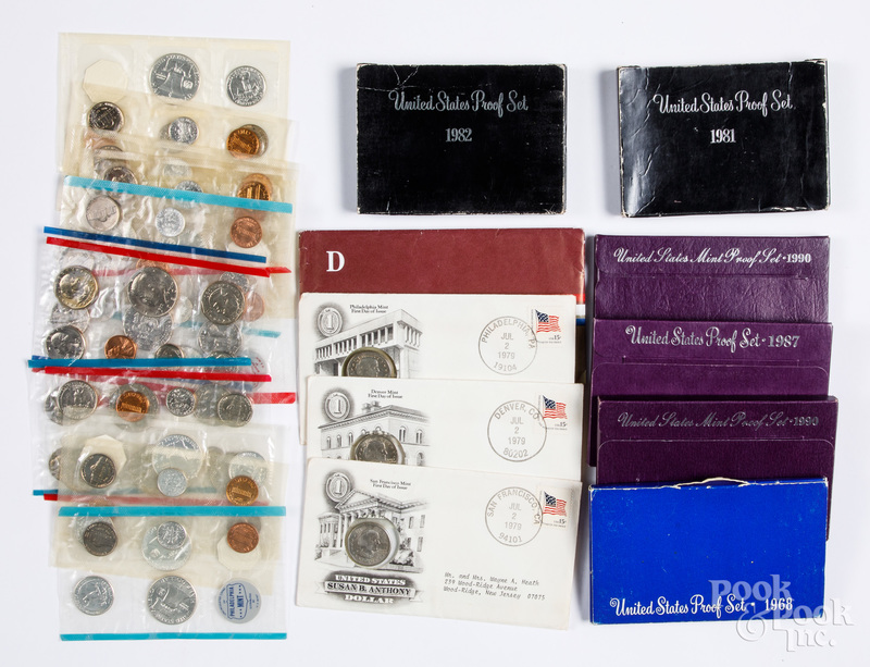 10 US mint sets, 1959-1963, etc.
