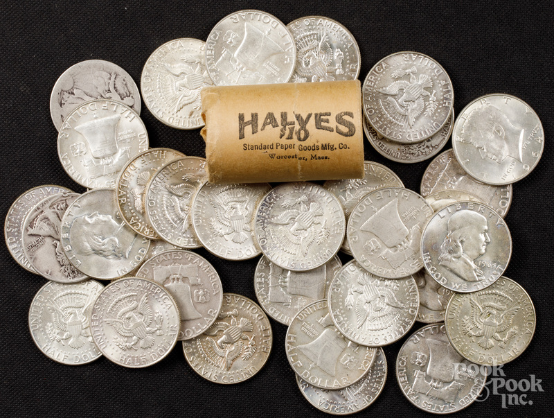 Twenty-seven silver half dollars