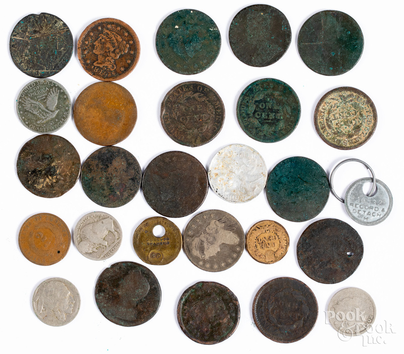 Group of early US coins