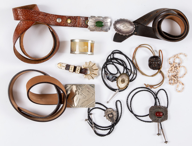 Group of Native American and western style jewelr